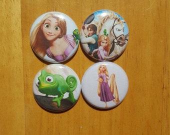 "Tangled Rapunzel pin buttons Set 1"""