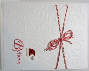 Handmade Santa Hat Christmas Card