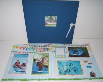 Summer Vacation Scrapbook Album - Premade Summer Vacation Scrapbook Album - Summer Photo Album - Premade Summer Scrapbook Album -Trip Album