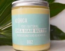 Coconut & Brazilian Mango Natural Hair Butter- Vegan- Natural Hair Product- Hair Conditioning Oil- Shea Butter- Mango Butter- Kinky Curly
