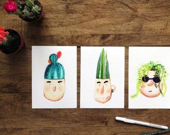 Pot Heads Prints