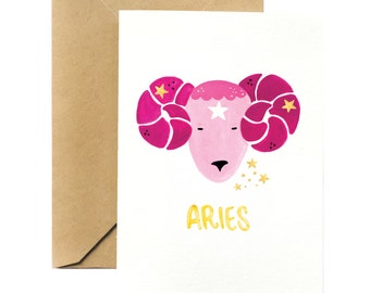 Birthday Greeting Card | Aries Horoscope