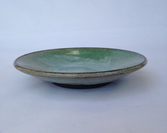 Green Handmade Ceramic Platter, Ceramic platter, Pottery platter