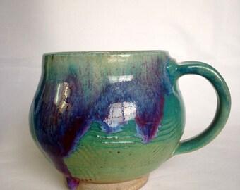 Large Handmade Ceramic Mug, Coffee Mug 22 OZ L1