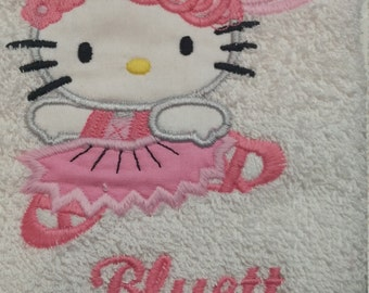 Personalized Hello Kitty Hand Towel