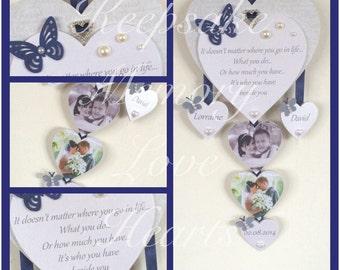 Wedding gift wooden keepsake heart