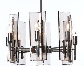 Crystal Arte | 8 light chandelier | 1950's