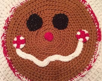 Holiday Gingerbread Woman Potholder
