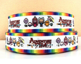 Adventure Time 1 inch Ribbon by the yard