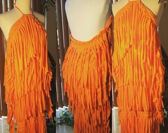 Ladies fringe dress