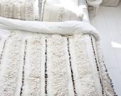 Moroccan wedding blanket - handira A3  - (96.4 x 44.8 inch)