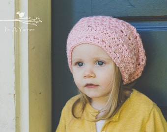 Pink  Slouchy Hat, Baby Slouchy Beanie, Crochet Hat For Kids, Adult Slouchy Hat, Womens Slouchy Beanie, Hipster Slouchy, Slouchy Beanie Hat