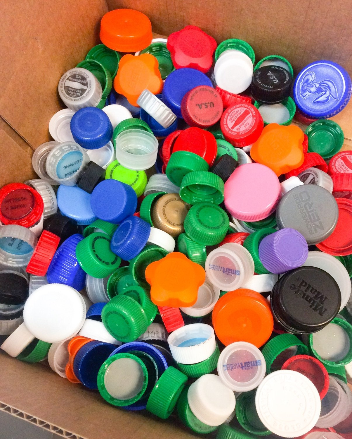 1lb Of Recycled Plastic Bottle Caps Crafting Bottle Caps