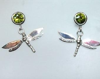 Dragonfly CZ Earrings