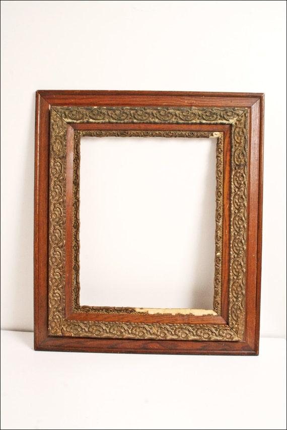 antique picture frame fits 16 x 20 brown wood. Black Bedroom Furniture Sets. Home Design Ideas