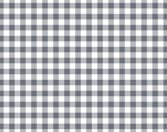 Grey Large Gingham Print Cardstock