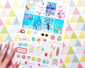 Stickers cut Summer theme