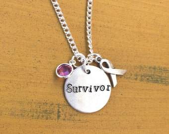 Cancer awareness necklace