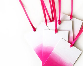 Pink Ombre Gift Tag - Pack of 6