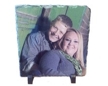 Personalised Photo Slate, Personalized Photo Slate Plaque, Wedding Gift ideas, Hand crafted slate