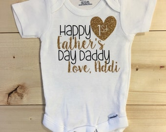Happy First Fathers Day Daddy - My First Fathers Day Onesie - Fathers Day - Daddys Girl