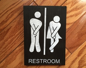 Bathroom Signs Ireland funny bathroom signs | etsy