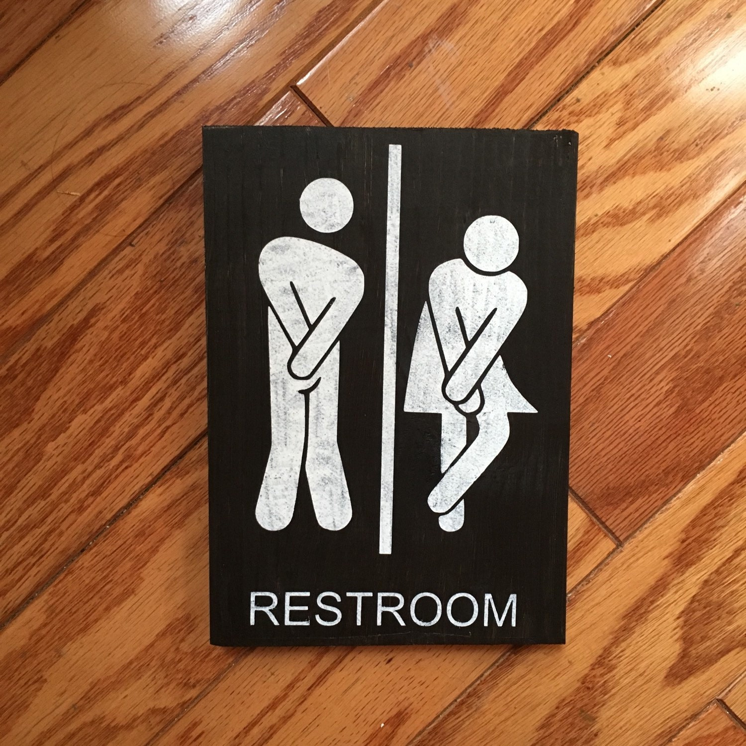 Restroom Sign Bathroom Sign Wood Bathroom Rustic Decor Male
