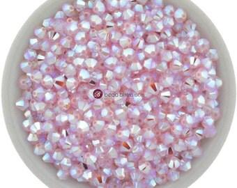 Rose Water Opal AB2X (3mm - 4mm) Swarovski Crystal 5328 XILION Bicones