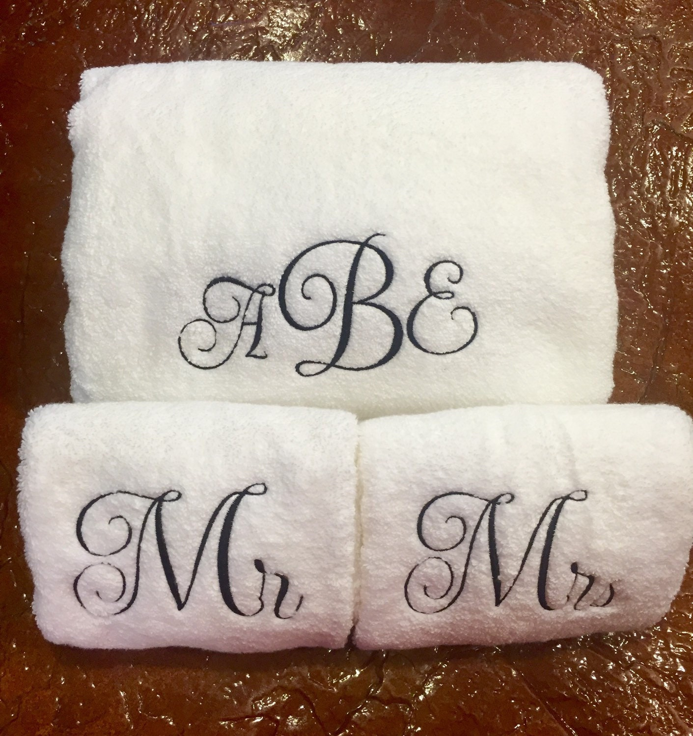 Monogram Towels For Bathroom: Monogrammed Towels/Monogrammed Towel Set/Personalized