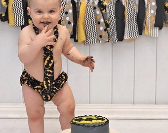 Batman Boys Cake Smash Outfit