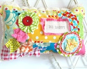 SALE Fabric Door Hanger / Handmade Door Hanger / Shelf Siter / Girls Bedroom Decoration /Fabric Scrap Pillow / Birthday Gift For Her