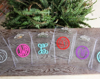 Personalized Clear Clipboard, Office Gift, Office Accessories, Teacher Gift, Monogram Clear Clipboard, Monogram Clipboard, Custom Clipboard