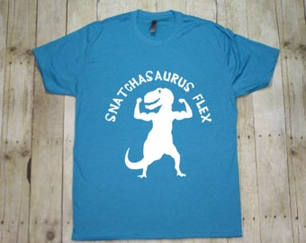 Snatchasaurus Flex -Gym Shirts - Workout Shirts - Gym T Shirt-Fitness T Shirt - Funny t-shirts -  shirt -TBS015