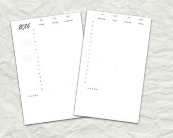 2016 Stay Organized Weekly Schedule Planner