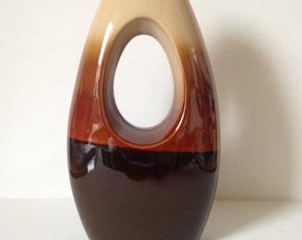 Large Ceramic Vase, Retro Vase, Brown Vase, Large Flower Vase, Ceramic Vase, Large Vase, Flower Vase, Vase, Retro Home Decor, Retro Decor,