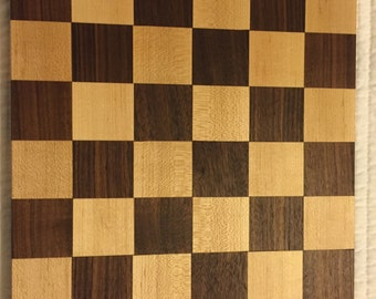 Checkerboard Cutting Board - Walnut and Maple