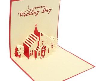 Wedding Congratulations Pop-Up Card