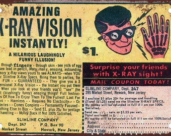1966 X-Ray Specs Vintage Look Reproduction Metal Sign