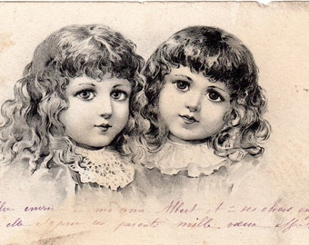Antique Illustrated postcard from 1904