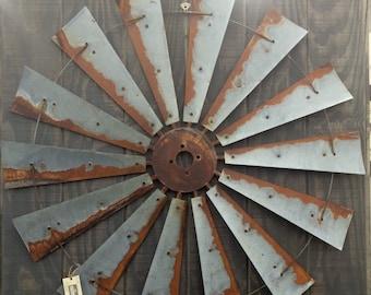 Farmhouse Wall Decor windmill half metal farmhouse wall art 60 inch gift