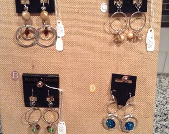 Choice of 4 pairs of Dangle Earrings