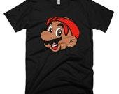 Men's Super Mario/Tupac Nintendo Hip Hop T-Shirt - Mario Shakur