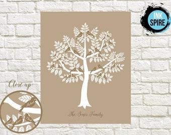 Family Tree Print / DIGITAL FILE / Personalized Family Tree Print / Personalized Family Print / Family Tree Wall Art