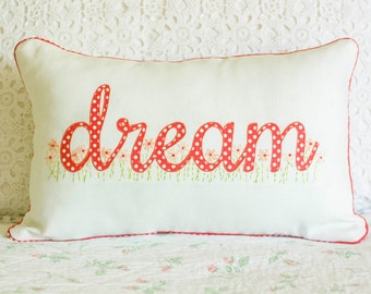 Appliqued Dream Pillow
