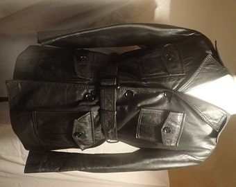 Men's 1970's leather safari jacket