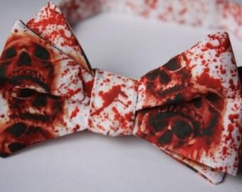 Skulls Dripping Blood- bowtie