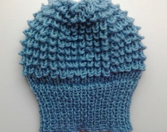 Baby winter warm knitted cap/beret 46-48 cm