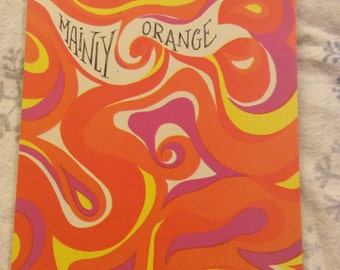 Vintage Stationary Pad Mainly Orange Artistic Greetings