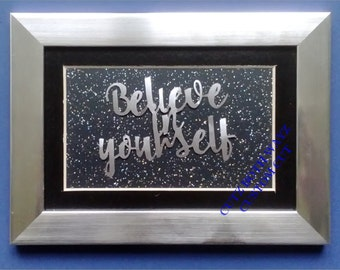Believe in yourself papercut