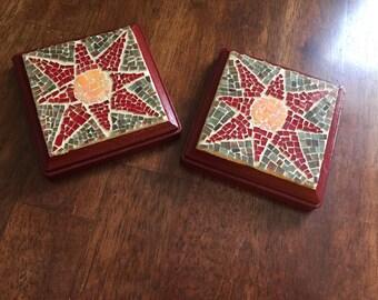 Mosaic coasters set